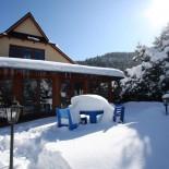 Komplet ogrodowy okrągły Progressive-niebieski-zimą